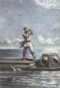 Kaptein Nemo tar solhøyden ombord på Nautilus 1869