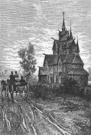 """""""Billet de loterie"""" - Paris: Hetzel 1.utg. 1886, Heddal stavkirke v/G.Roux"""