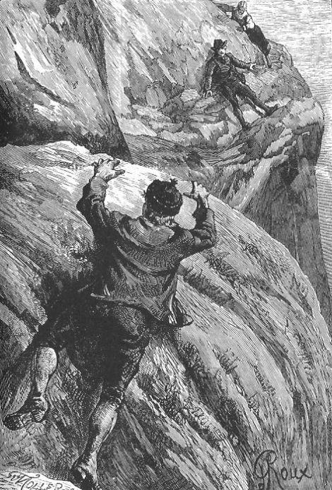 """""""Joël"""" redder Sylvius fra å falle i Rjukanfossen, Loddseddelen 1886"""