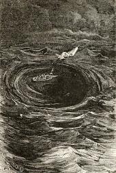 "Malstrømmen ved Lofoten, fra ""Hatteras"" 1864"