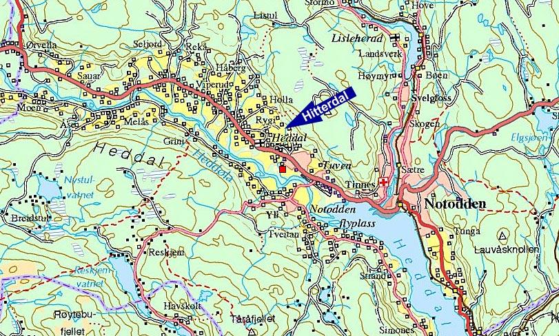kart over notodden Norske stedsnavn   Jules Verne i Norge kart over notodden