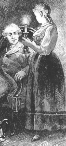 """Un billet de loterie"" - G.Roux: Sylvius Hog and Hulda at the Inn at Dal"