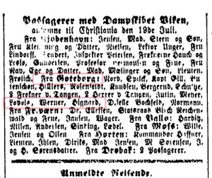 MorgenbladetReg19July1861_ArrivalsDS_Viken